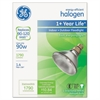 GE Energy-Efficient Halogen Bulb, 90 Watts, Crisp White