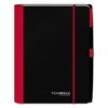 Accents Business Notebook, Legal Rule, 9 3/4 x 9 3/8, Red Cover, 100 Sheets