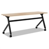 Multipurpose Table Flip Base Table, 72w x 24d x 29 3/8h, Wheat