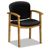 HON 2111 Invitation Reception Series Wood Guest Chair, Harvest/Solid Black Fabric