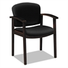 HON 2111 Invitation Reception Series Wood Guest Chair, Mahogany/Solid Black Fabric