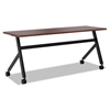 basyx Multipurpose Table Fixed Base Table, 72w x 24d x 29 3/8h, Chestnut