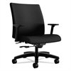 Ignition Series Big & Tall Mid-Back Work Chair, Black Fabric Upholstery