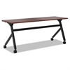 basyx Multipurpose Table Flip Base Table, 72w x 24d x 29 3/8h, Chestnut