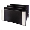 Architect Line Letter Sorter, 3 Compartments, 6 3/4 x 8 3/4 x 5, Black/Silver