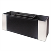 Architect Line Supply Caddy, 4-Compartment, 3 x 8 3/4 x 3, Black/Silver