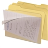 Clear View Interior File Folders, 1/3 Cut Top Tab, Letter, Manila, 8/Pack