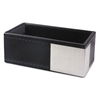 Architect Line Business Card Holder, Holds 50 2 x 3 1/2, Black/Silver
