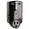 Travel Surge with 2.1 Amp USB Charging Ports, 3 Outlets/2 USB, 540 Joules, Black