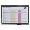 Clarity Custom Print Glass Dry Erase Board, 36 1/2 x 24-1/2, Gray Frame