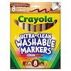 Crayola Washable Markers, Conical Point, Multicultural Colors, 8/Pack