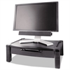 Wide Two-Level Stand with Drawer, Height-Adjustable, 20 x 13 1/4, Black