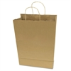 Premium Large Brown Paper Shopping Bag, 50/Box