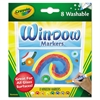 Crayola Washable Window FX Markers, Conical Tip, Assorted Colors, 8/Set
