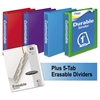 "Mead Durable D-Ring View Binder Plus Pack, 1"" Cap, Assorted Colors, 4/Carton"