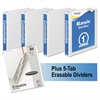 """Mead Economy Round-Ring View Binder Plus Pack, 1"""" Cap, White, 4/Pack"""