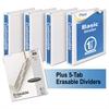 "Mead Economy Round-Ring View Binder Plus Pack, 1 1/2"" Cap, White, 4/Carton"