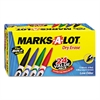 Marks-A-Lot Pen Style Dry Erase Markers, Bullet Tip, Assorted, 24/Set