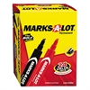 Marks-A-Lot Large Desk-Style Permanent Marker, Chisel Tip, Assorted, 24/Set