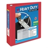 "Avery Heavy-Duty View Binder w/Locking 1-Touch EZD Rings, 2"" Cap, Red"