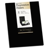 Two-Pocket Presentation Folders, 8 1/2 x 11, Black, 8/Pack