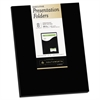 One-Pocket Presentation Folders, 8 1/2 x 11, Black, 8/Pack