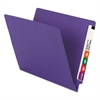 "Smead WaterShed/CutLess End Tab 2 Fastener Folders, 3/4"" Exp., Letter, Purple, 50/Box"