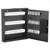 Hercules Key Cabinets E-Lock, 120-Key, Steel, Silver Vein
