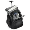 Rolling Backpack, 14 x 8 x 21, Black/Charcoal