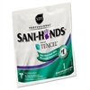 Sani Professional Sani-Hands Sanitizing Wipes with Tencel, White, 5 x 7 3/4, 3000 Packets/Carton