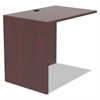 Alera Valencia Series Reversible Return/Bridge Shell, 35w x 23 5/8d, Mahogany