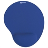 Mouse Pad w/Gel Wrist Pad, Nonskid Base, 10-3/8 x 8-7/8, Blue