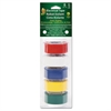 "Duck Electrical Tape, 3/4"" x 12 ft, 1"" Core, Assorted, 5/Pack"
