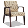 Alera Alera Reception Lounge Series Guest Chair, Mahogany/Tan Fabric