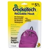 Duck GeckoTech Reusable Hooks, Plastic, 5 lb Capacity, Clear, 1 Hook