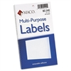 Multi-Purpose Self-Adhesive Removable Labels, 1 1/2 x 3, White, 160/Pack