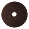 "Low-Speed High Productivity Floor Pad 7100, 17"" Diameter, Brown, 5/Carton"