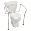 HealthSmart Toilet Safety Arm Support with BactiX Antimicrobial, White, 250 lb Capacity