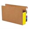 "3 1/2"" Exp File Pockets, Straight Tab, Legal, Yellow, 10/Box"