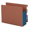 "5 1/4"" Exp File Pockets, Straight Tab, Letter, Blue, 10/Box"