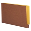 End Tab File Pockets, Four-Inch Accordion Expansion, Lgl, Redrope/Goldenrod Back
