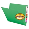 Colored File Folders, Straight Cut, Reinforced End Tab, Letter, Green, 100/Box