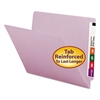 Colored File Folders, Straight Cut Reinforced End Tab, Letter, Lavender, 100/Box