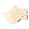 Folders, Front/Back Interior Pockets, Straight End Tab, Letter, Manila, 25/Box