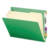 Colored End Tab Classification Folders, Letter, Six-Section, Green, 10/Box