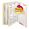 Manila End Tab Classification Folders, Letter, Six-Section, 10/Box