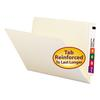 Straight Cut End Tab Folders, 9 1/2 Inch Front, Legal, Manila, 100/Box