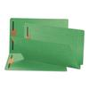 Smead Two-Inch Capacity Fastener Folders, Straight Tab, Legal, Green, 50/Box
