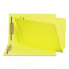 Smead Two-Inch Capacity Fastener Folders, Straight Tab, Legal, Yellow, 50/Box