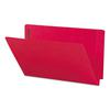 Two-Inch Capacity Fastener Folders, Straight Tab, Legal, Red, 50/Box